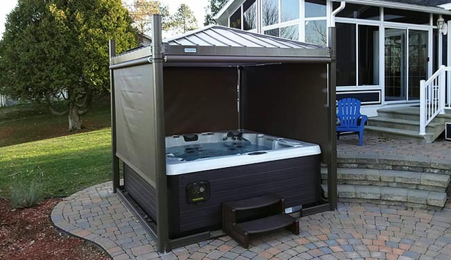 Hot Tub Gazebos Enclosed Amp Open Air Gazebos Calspas Of