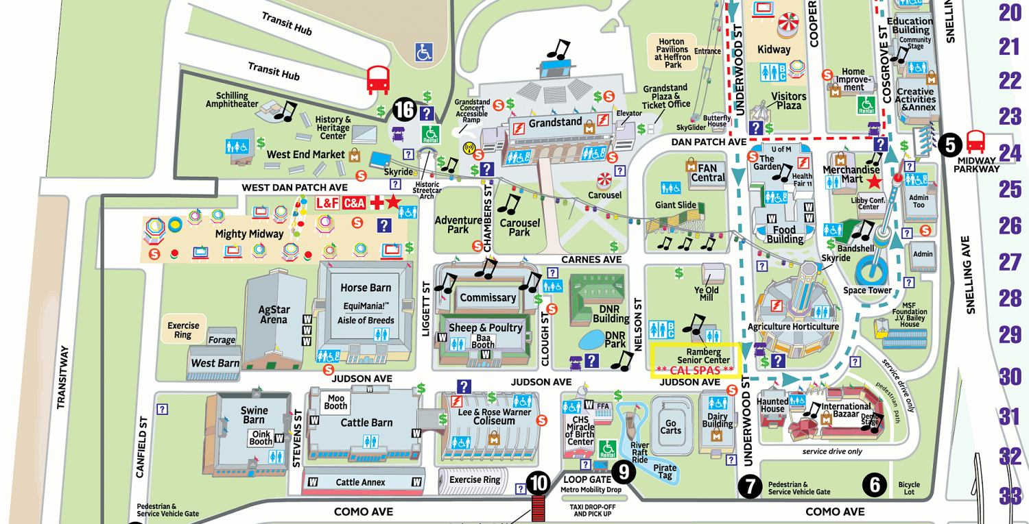 State Fair Map  Cal Spas Of Minnesota