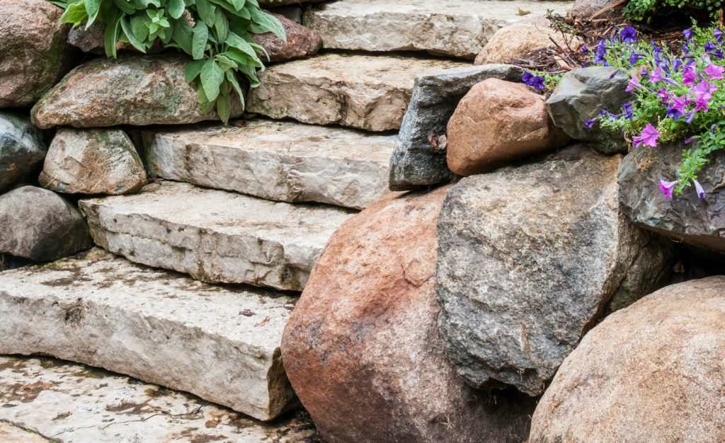 Raise your game with natural stone steps