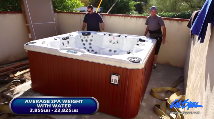 Cal Spas hot tub foundation guide
