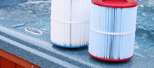 Filters for a hot tub or swimming pool